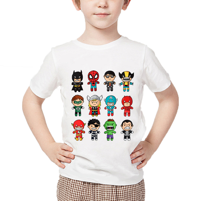 купить Children Cartoon Avengers Super Hero Funny T shirt Summer Kids Casual T-shirt Boys/Girls Tops Baby Brand Clothes,HKP5512 по цене 344.07 рублей