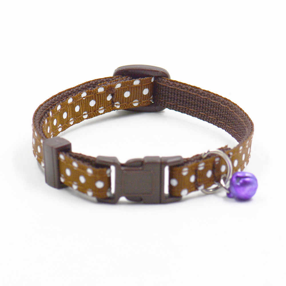 cb5ed652f ... Small Cute dot Pet cat dog collars with Bell multi color puppy kitten  strap collar round ...