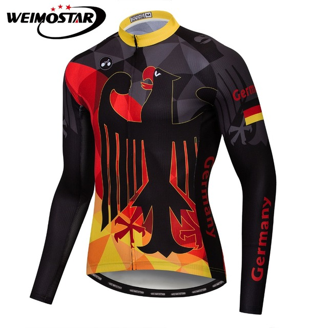 Weimostar Germany New Zealand Cycling Jersey Road Bike Wear Ropa Ciclismo  Sportswear Maillot Bicycle Clothes Mtb f469d1fec