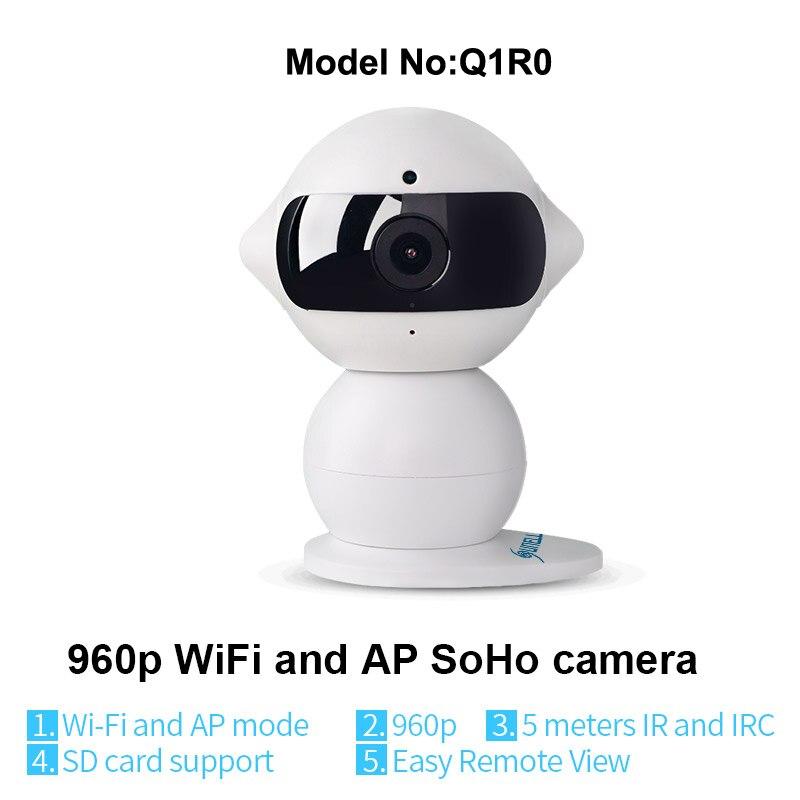 bilder für Sunell q1r0 modell wifi ip-kamera marke nachtsicht überwachungskamera Hd 1.3mp IR Reichweite 5 mt Mini Roboter Innen Home Office Wifi 960 p
