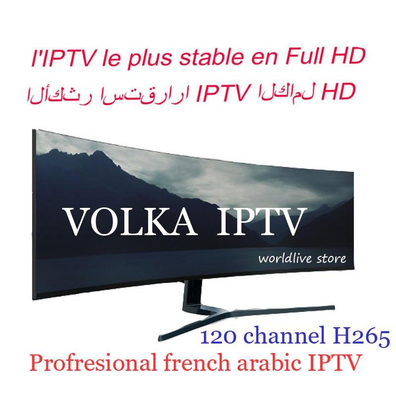 Boîte de télévision Android Français Arabe iptv abonnement VOLKA pro H265 M3u Mag enigma2 stalker iptv code test gratuit