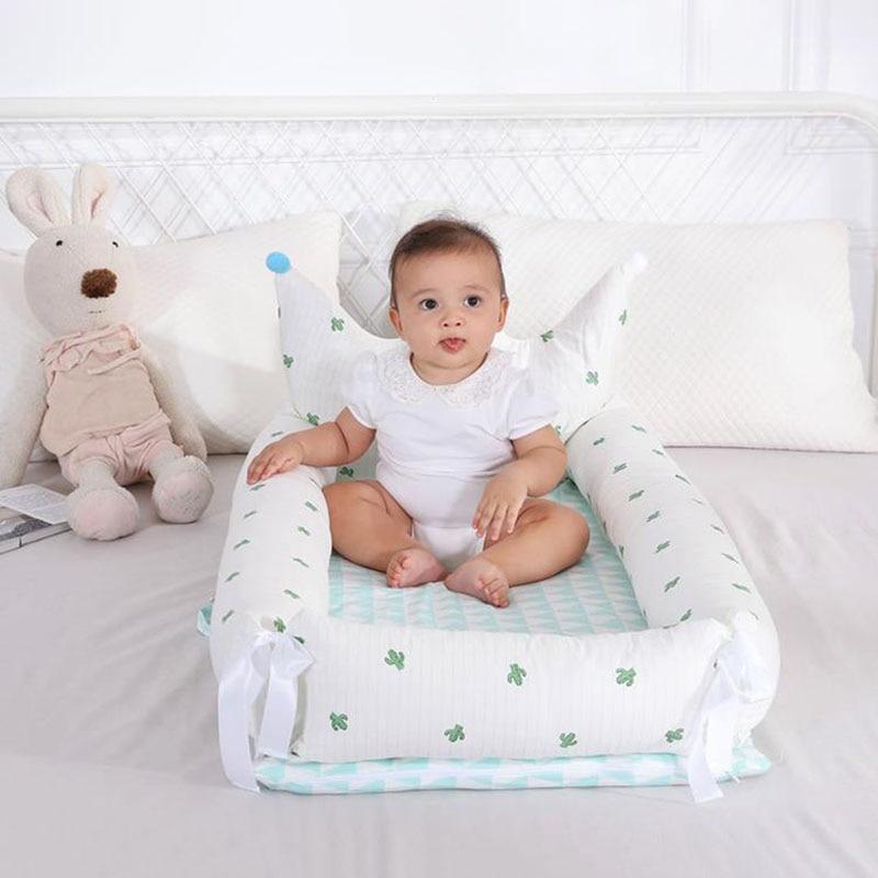 Lit bébé Portable pour les nouveau-nés impression de bande dessinée amovible et lavable couronne bébé nid pliant lit pour enfants 0-18 M lit Bionic - 6