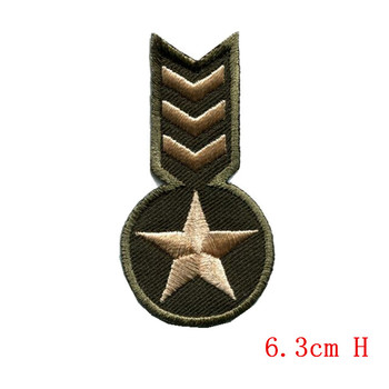 Todo tipo de insignia militar de la Armada de tamaño pequeño rango guerra apliques parches de hierro nuevo diseño