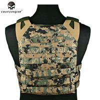 Emerson JPC Tactical Vest With Double Plate Carrier 1000D Molle Airsoft Paintball Combat Gear Outdoor Hunting