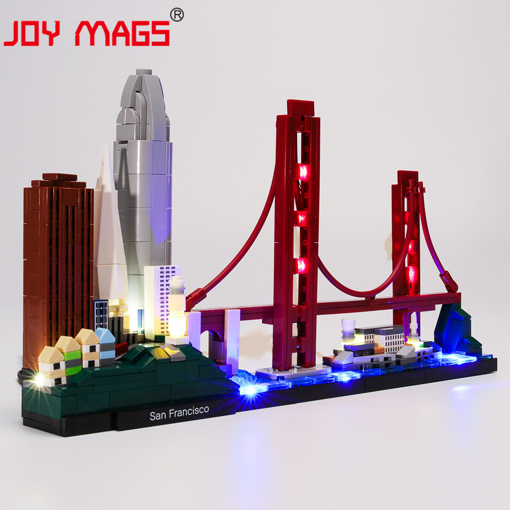 JOY MAGS Only Led Light Kit For Architecture San Francisco Lighting Set Compatible With 21043 <font><b>17014</b></font>(NOT Include Model) image