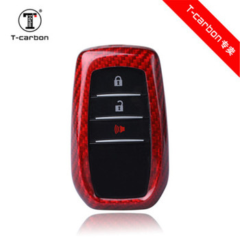 Car Accessories100% Real Carbon Fiber Car Key Case For Toyota Alphard RAV4 PREVIA Key Cover Car Styling