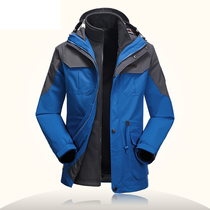 Winter Thermal Fleece Liner Detachable Men's Waterproof Windbreaker Jacket Brand AFS JEEP Outdoor Hunting Climbing Hiking Jacket
