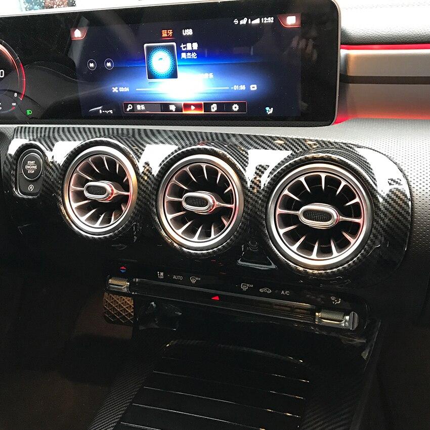 Приборная панель вентиляционное отверстие Наклейки Накладка для Mercedes Benz A CLA Class W177 V177 C118 A180 A200 A220 A250 аксессуары для стайлинга автомобиля