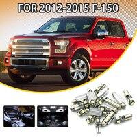 360 Lahl 14 cái Trắng Car LED Light Bulbs Nội Trọn Gói Kit Đối Với FORD F-2012-2015 Dome lights bản đồ đèn