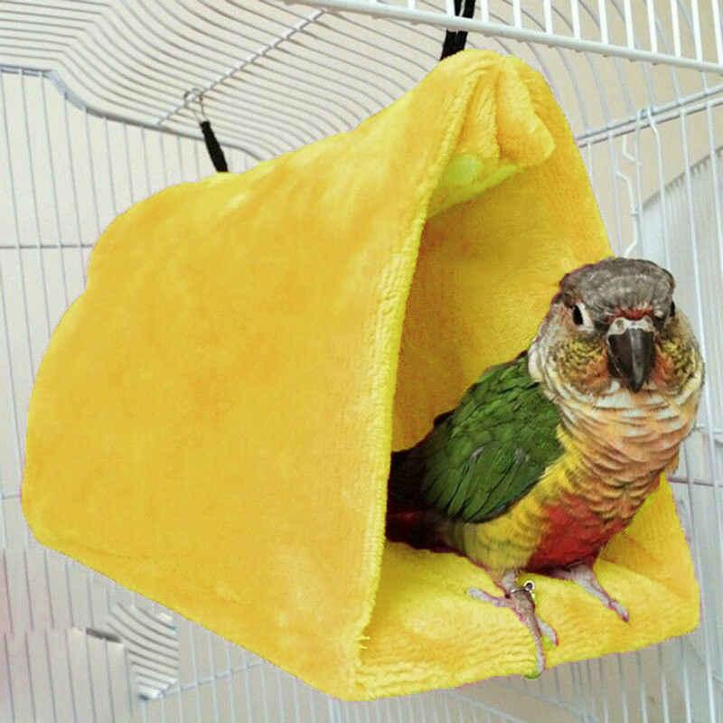 2019 новейший горячий питомец птица длиннохвостый попугай буджи Теплый Гамак клетка мягкая хижина палатка кровать висячее дупло