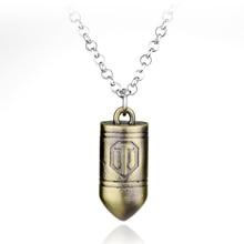 3D игры World of Tanks Цепочки и ожерелья WOT Symble пуля кулон Цепочки и ожерелья для Для женщин Для мужчин в стиле панк Модные аксессуары ювелирные изделия