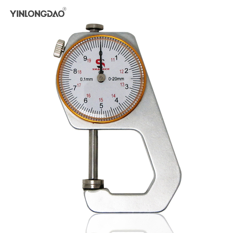 Thickness gauge Metal White Tester Measure Leathercraft Tool 0-10mm Flat Paper Tissue Length 78mm Jewelry Measuring Instruments