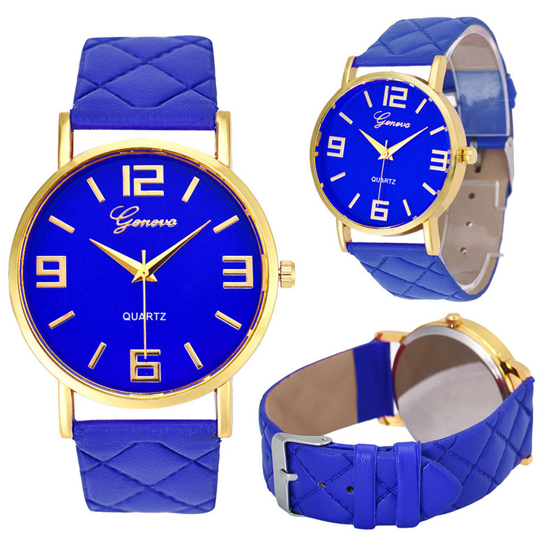 Women's Watches Fashion Geneva Brand Roman Numeral Simple Zegarki Damskie Montre Femme Acier Inoxydable@50