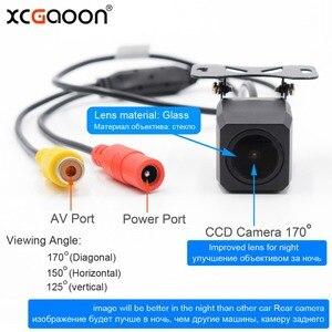 Image 2 - XCGaoon металлическая CCD Автомобильная камера заднего вида ночная версия Водонепроницаемая широкоугольная резервная камера, улучшенные линзы для ночного видения