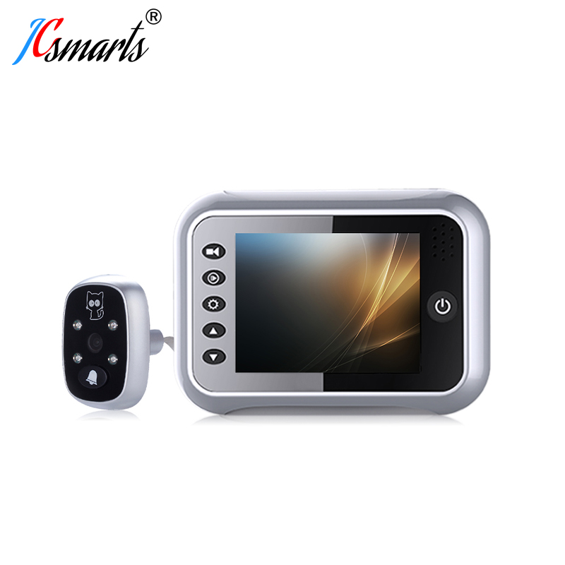 "3.5"" LCD Display Electronic Door Bell Viewer IR Night Vision Door Peephole Camera Photo/Video Recording Digital Door Camera"