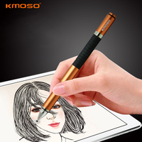 High Quality Universal 2 in 1 Aluminum Alloy Metal Capacitive Touch Screen Stylus Pen For iPad Samsung ASUS Tablet Mobile Phone