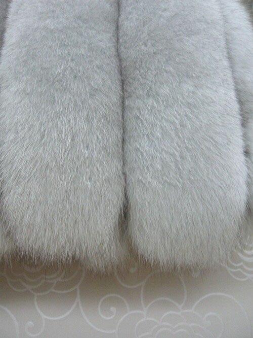 Pleine Véritable De Renard Veste Tf0197 Livraison D'hiver Gratuite Manteau En Grande Taille Femmes Luxe Fourrure Long Cuir Gilet 3jLAR54