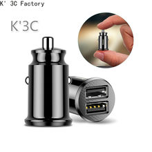 K' 3C Mini USB Car Charger For iPhone X Xs Max 8 7 6 Xiaomi Redmi Note 7 Dual USB Car Phone Charger Dual USB Car Phone Charger(China)
