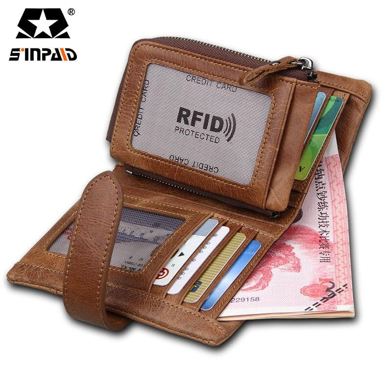 SINPAID Sale Wallet Men Leather Male Purse Money Credit Card Holder Case Coin Pocket Brand Design Money Maschio Clutch-FF