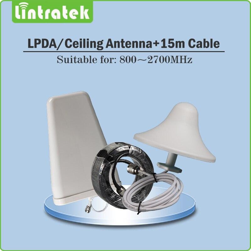 Répéteur Lintratek 4G Gain 70dB répéteur de Signal de téléphone 4G LTE 2600 mhz (bande LTE 7) amplificateur de Signal Mobile amplificateur complet @ 68 - 3
