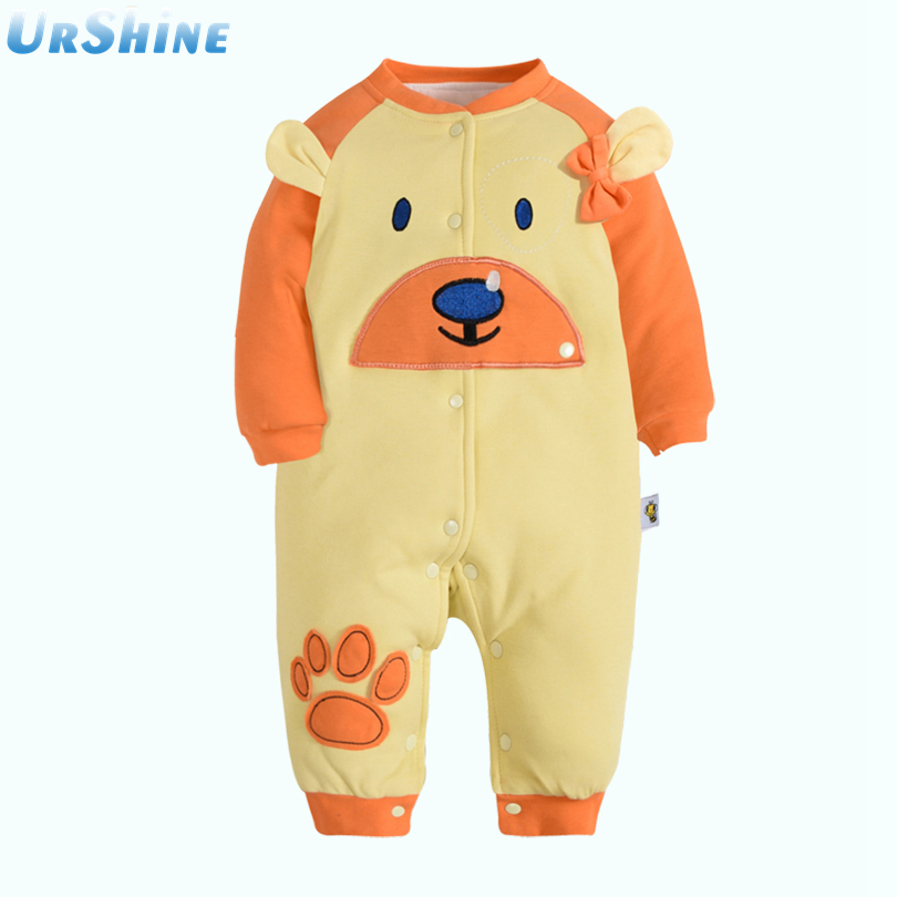 2018 New Fasion Warm Baby Boy Girl Jumpsuit Thick Hoodies New Born Snow Ropa Clothing Sets Cotton Lovely Dog Tops And Pants