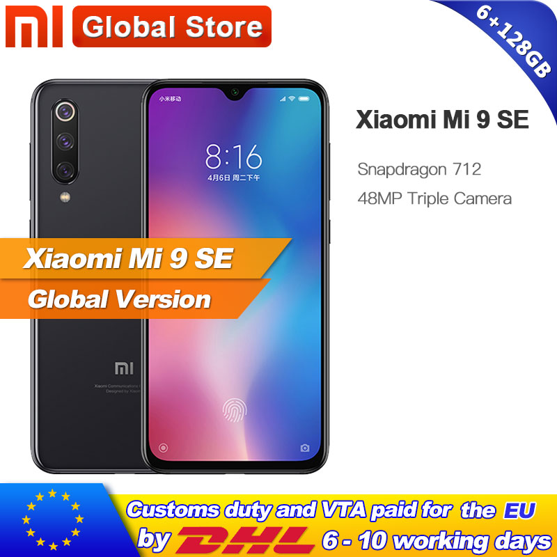Global Version Xiaomi Mi 9 SE 6GB 128GB Mobile Phone Mi9 SE Snapdragon 712Octa Core 5