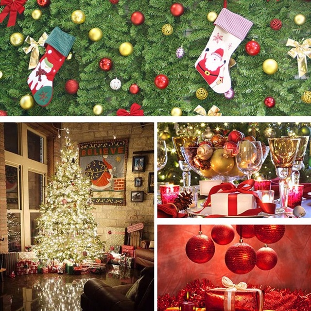 24pcs Bucket 6cm Christmas Tree Ball Baubles Party Wedding Hanging
