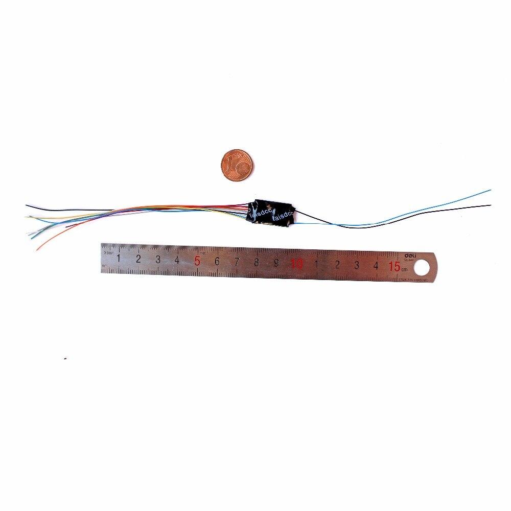 DCC LOCO DECODER FÜR HO & N SKALA MODELL ZUG mit 4 Funktion mit 9 Draht und Bleiben Alives Drähte 860014/LaisDcc Marke/PanGu Serie