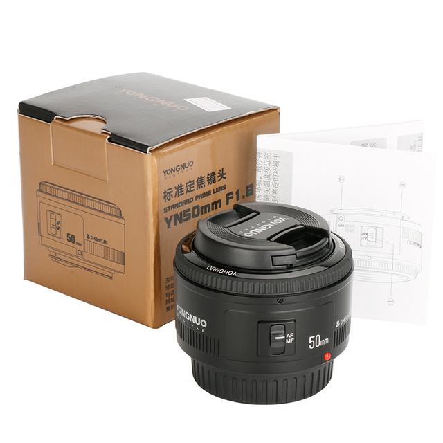 YONGNUO YN50mm YN50 F1.8 EF EOS 50MM AF MF Camera Lens For Canon Rebel T6 EOS 700D 750D 800D 5D Mark II IV 10D 1300D