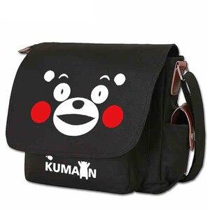 Аниме; Кумамон, медведь, Tokyo SAO, сумка на плечо, повседневная, на молнии, через плечо, сумка-тоут, школьная книга, Студенческая сумка-мессенджер