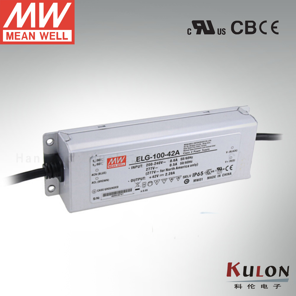 Genuine Meanwell driver ELG-100-42A 96W 2.28A 42V Adjustable mean well Led Power Supply genuine meanwell driver elg 100 48a 96w 2a 48v adjustable led power supply