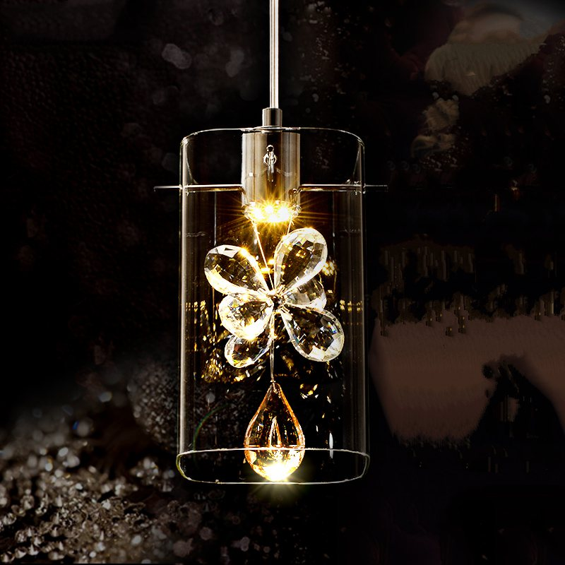 romantic creative modern flower K9 crystal glass 1/3/5/6 heads led pendant light for living room dining room modern fashion luxurious rectangle k9 crystal led e14 e12 6 heads pendant light for living room dining room bar deco 2239