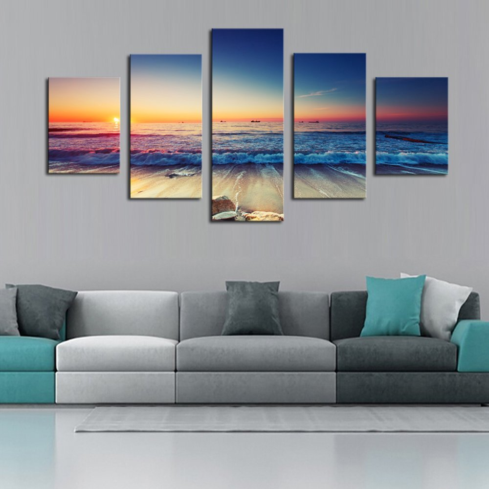 5 panelů The Seaview Modern Home Wall Decor Painting Canvas Art HD Print Painting Canvas Wall Picture For Home Decor