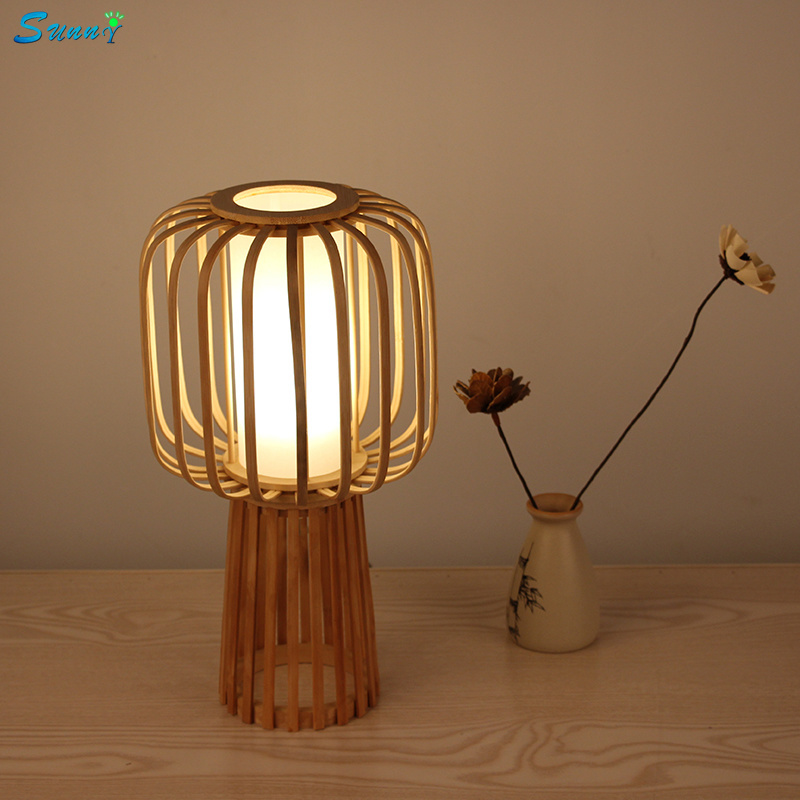 Japanese Country Bamboo Wood Modern Table Lamps Bedroom Bedside Lamp Living Room Study Bamboo Decorative Lighting LED Table LampJapanese Country Bamboo Wood Modern Table Lamps Bedroom Bedside Lamp Living Room Study Bamboo Decorative Lighting LED Table Lamp