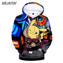 e06976ece6 WEJNXIN Pikachu Pokemon Go 3D capucha gráfica sudaderas hombres mujeres  Unisex sudaderas con capucha pulóver niños Juego chándal.
