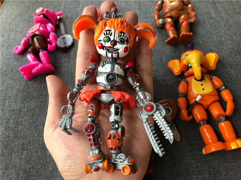 Image 5 - 6pcs/set Five Nights at Freddy Action Figure Toy FNAF Bonnie Foxy Freddy Fazbear Bear Figurines Toy Doll with light-in Action & Toy Figures from Toys & Hobbies
