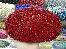9 Farben Hohe Qualität Heißen Festen Goldene Kristalle Braut Hochzeit Clutch Handtaschen Frauen Kleid Metall Erfasst Damen Abend Geldbörse