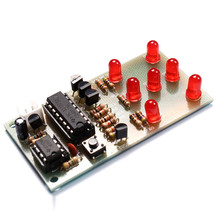 1PC Electronic Dice DIY Kit 5mm Red LED Interesting Parts NE555 CD4017 Electronic Production Suite LED Diode Board