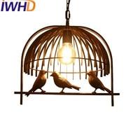 IWHD Iron Birdie Vintage Industrial Lighting Pendant Lights Style Loft Industrial Retro Lamp Cage Pendant Lamp Kitchen Light
