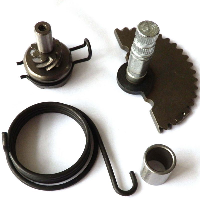 Scooter Moped Kick start Gear Starter shaft Rebuild Kit Idle Gear Spring for 49cc 50cc 80cc GY6 139QMB 4 Stroke Engine