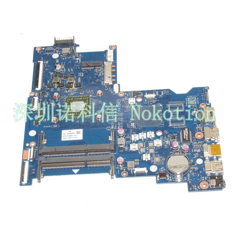 NOKOTION 813969-001 Laptop motherboard For HP  15-AF ABL51 LA-C781P Mainboard full test nokotion original laptop motherboard abl51 la c781p 813966 501 for hp 15 af mainboard full test works