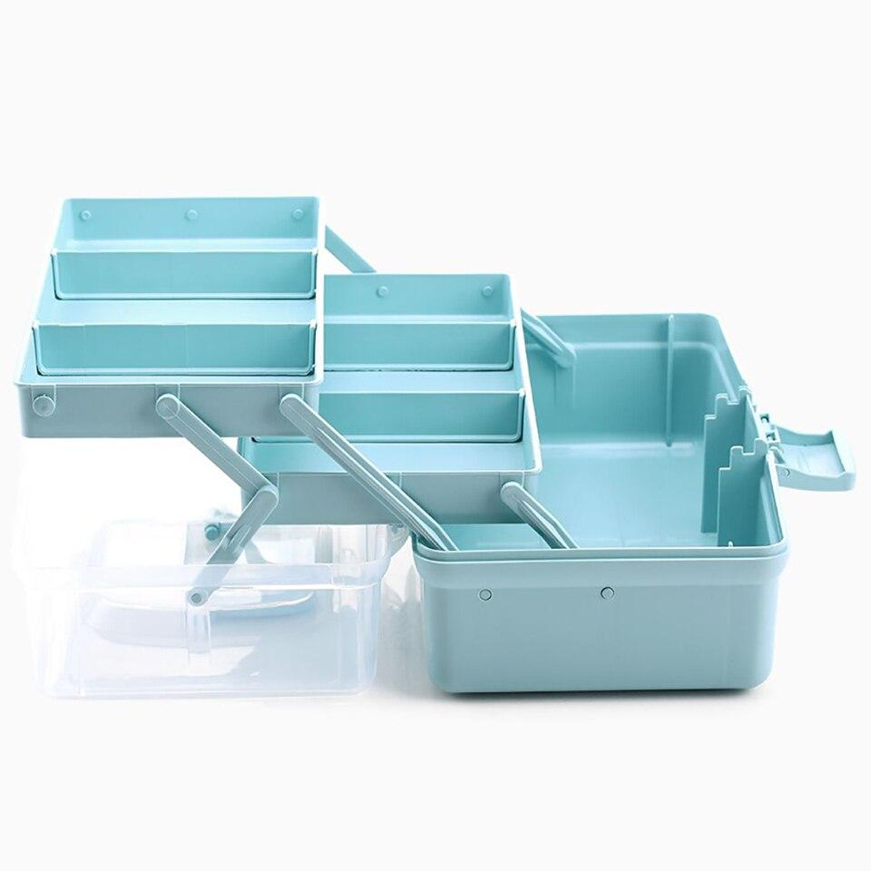 Portable 3 layers Multi-functional Medicine Box Storage Large-capacity Bins Healthy Tools Pill Vitamin