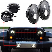 1 Set 2 Round Led Headlight 7 Inch Led Headlight With High Low Beam 2 4