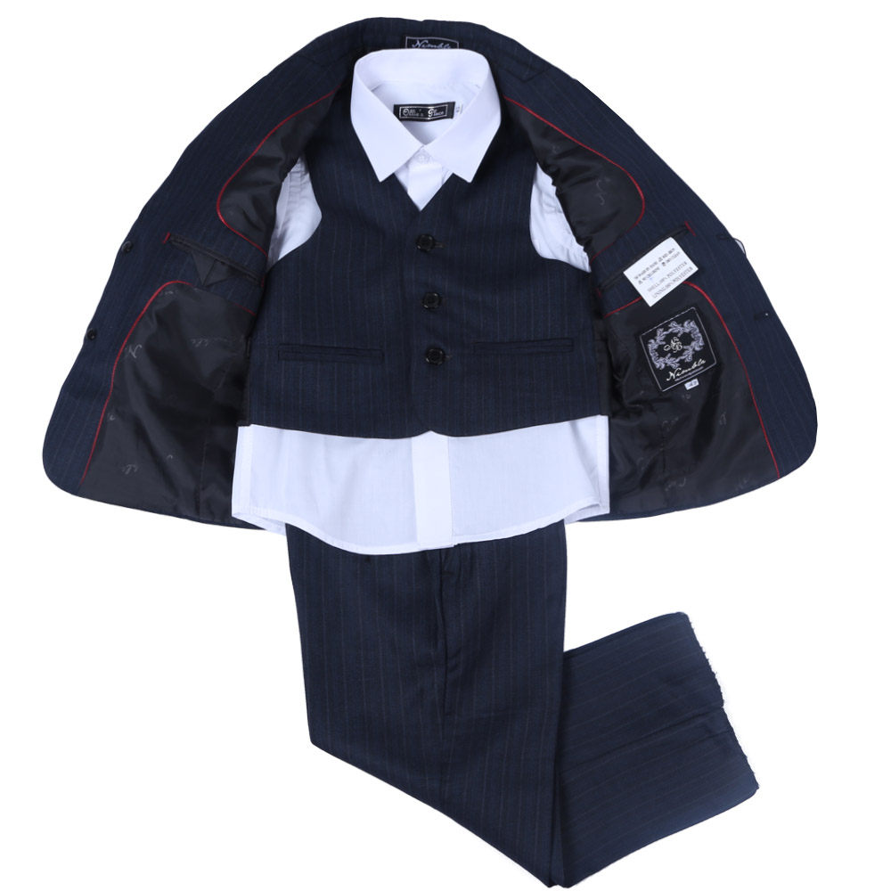Nimble Blazers Jackets For Baby boys Wedding Blue with white pinstripes Kids Blazers Boys Formal Suits 2016 new arrival fashion baby boys kids blazers boy suit for weddings prom formal wine red white dress wedding boy suits