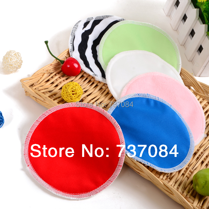 10pcs/lot Organic Bamboo Waterproof Reusable Washable Nursing Pad Breast Pad Feeding Pads, Absorbent Soft Pads for Mom