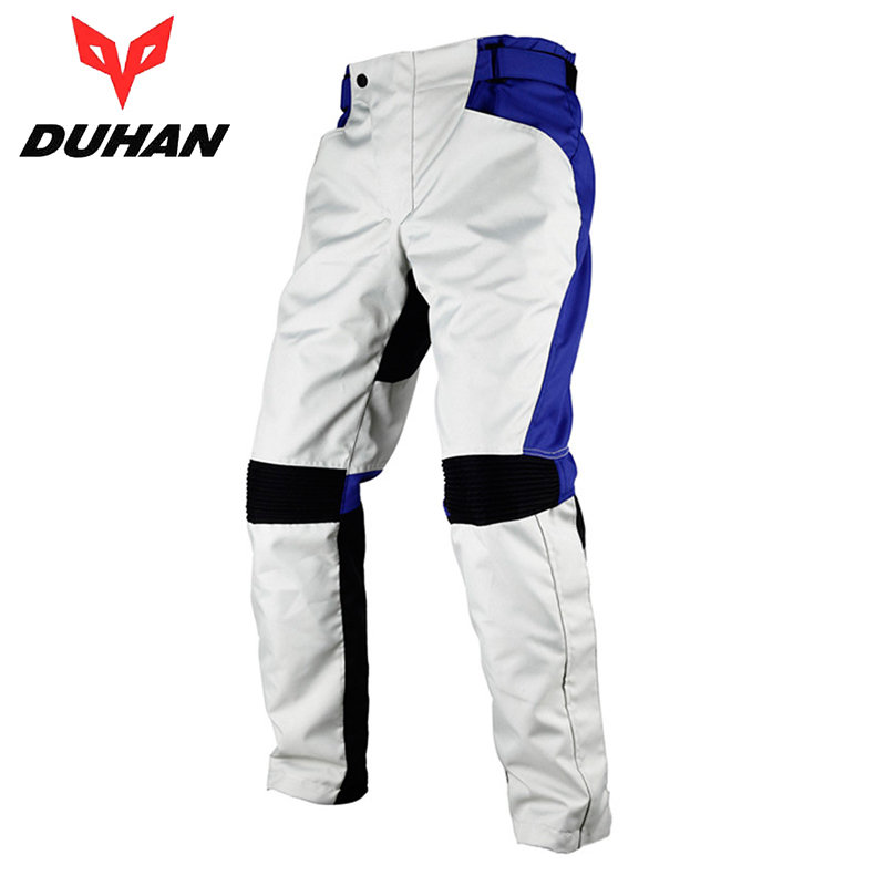 DUHAN Motorcycle Pants Men Moto Pants Motorcycle Riding Racing Windproof Trousers Motorbike Pants Pantalon with Knee Pads Guards
