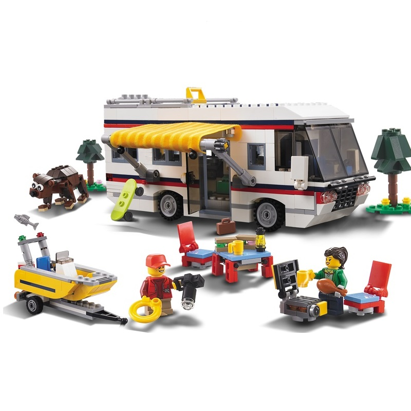 3117 City Creator 3 in 1 Vacation Getaways Model Building Blocks Enlighten Figure Figure Toys For Children Compatible Legoe inci 8420 supra 50 450 п п
