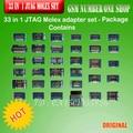 100% original 33 en 1 Juego de Adaptadores JTAG Molex por MOORC (con cables de la flexión)