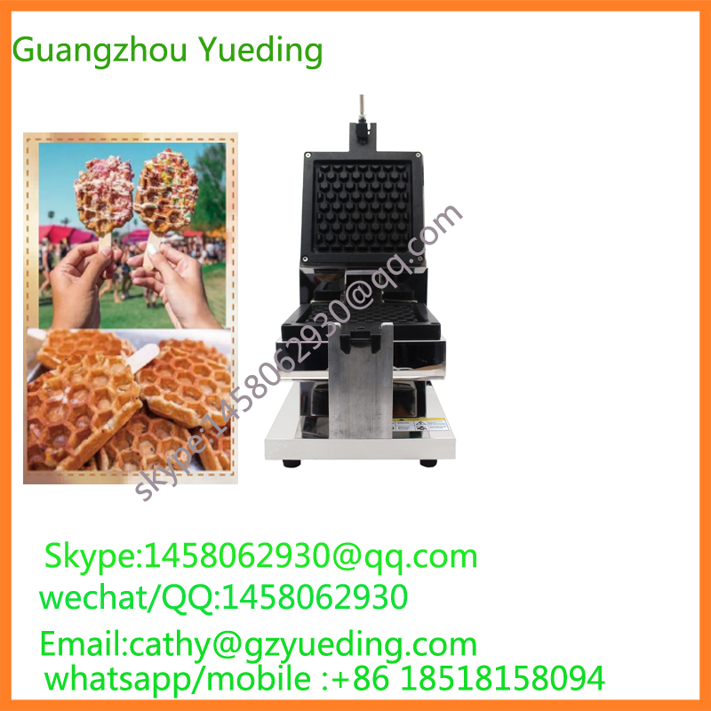 Honey Comb Waffle Maker NEW Product Hot Selling Commercial Egg Waffle Cone Maker Waffle Making Machine With CE