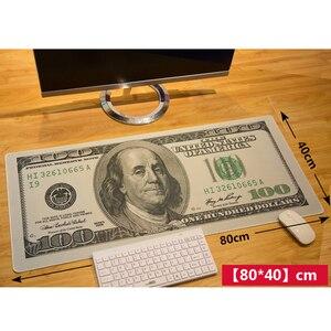 Image 2 - 80*40 سنتيمتر XL لوحة ماوس كبيرة الأمريكية الولايات المتحدة الأمريكية الدولار العلم البريطاني لعبة الألعاب ماوس الوسادة ألعاب الكمبيوتر المحمول حصيرة ل macbook